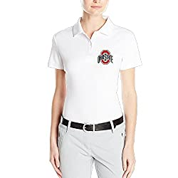 MEGGE Women's Ohio State Buckeyes Comfortable Short Sleeves Classic Pirque Polo Shirt