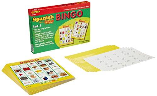 Flash Bingo Set - Edupress Spanish in a Flash Bingo Game Set 1 (EP62345)
