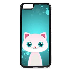 Case Fun Case Fun White Cat by DevilleART Snap-on Hard Back Case Cover for Apple iPhone 6 4.7 inch