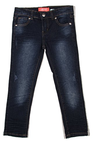Old Navy Classic Rise (7H032(S) - Girls' Super Stretch 5 Pockets Skinny Jeans in Washed Dark Blue Size)