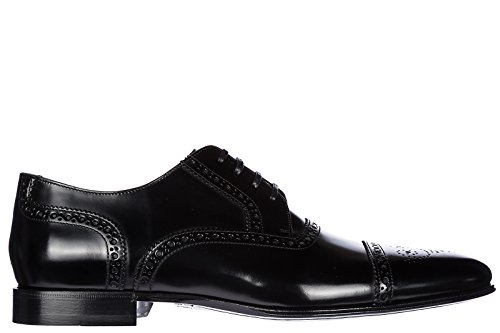 Dolce & Gabbana Men's Classic Leather Lace up Laced Formal Shoes Correggio Derby Brogue Black US Size 8 - Gabbana And 2014 Shoes Dolce