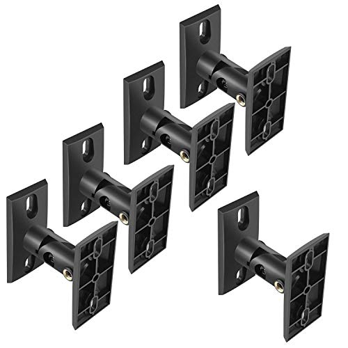 Speaker 5 Satellite Mounts Pack - PERLESMITH Speaker Mounts - Universal Satellite Speaker Wall Brackets, 5 Pack - Adjustable Tilt and Swivel for Large Surround Sound Speakers - for Walls and Ceilings - Holds up to 8lbs