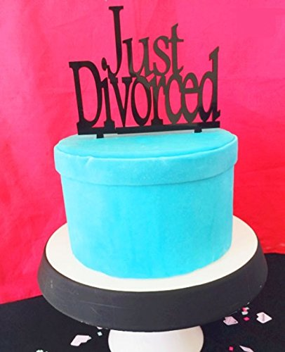 [USA-SALES] Just Divorced Cake Topper, Divorce Party Decorations, by USA-SALES Seller
