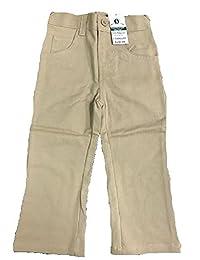 Girls khaki pants with adjustable waist