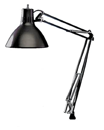 Luxo ls1abk ls 23w cfl task light 45 powder coated arm with external