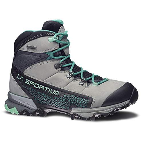 La Sportiva Women's Nucleo High GTX Hiking Shoe, Grey/Mint, 41