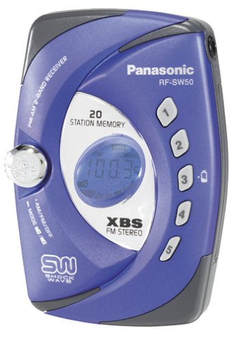 Panasonic RF-SW50 Shockwave Portable Radio (Blue) (Discontinued by Manufacturer)