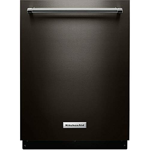 "KitchenAid 24"" Built-In Dishwasher Black stainless steel KDTE334GBS"