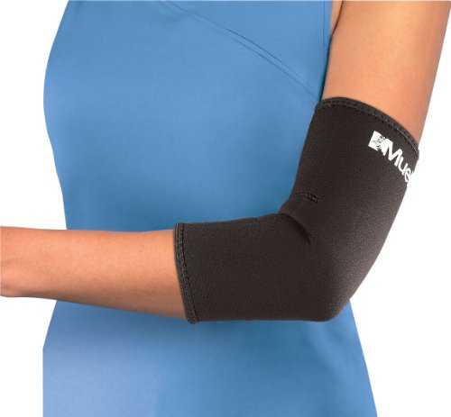 Mueller Elbow Sleeve, Neoprene, Black, (Neoprene Elbow Support)