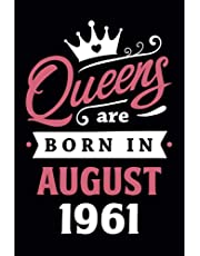 60th Birthday Gifts for Women: Queens Are Born in July 1961: Funny Notebook for Women's, 60th Birthday Notebook for Women, Gift for Women Birthday Unique, Friendship Gifts for Women Friends Personalized .… Notebook Journals (Notebook a5 Lined)