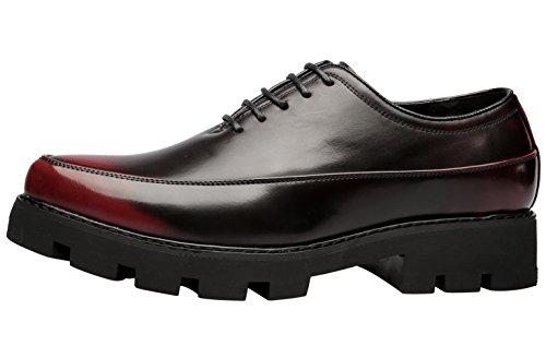 Santimon Robe Chaussures Pour Hommes Occasionnels Oxfords Moderne Classique Lacets En Cuir Chaussures Formelles Multicolores Multicolores1