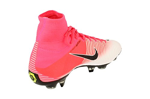 Chaussures De Football Nike Mercurial Superfly V Sgpro Ac Hommes 889286 Crampons De Soccer Racer Rose Blanc 601