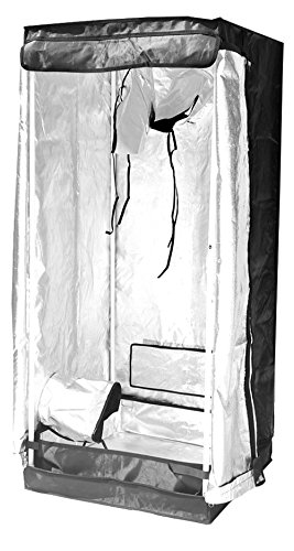 """4114RteLp L - Grow Tent Indoor 2x2 Feet Not Include LED - Small Reflective Mylar Hydroponic/Hydro Waterproof Seedling Plant Growing Room for Grow Tents, Black 24""""x24""""x56"""""""