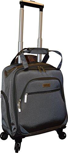 - New York Chocolate Travel 18 Inch Carry-On Wheeled Luggage (Grey)