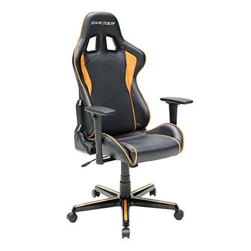 Amazon.com: DXRacer Formula Series DOH/FH08/NO Newedge Edition Racing  Bucket Seat Office Chair Gaming Chair Ergonomic Computer Chair  (Black/Orange) With ...
