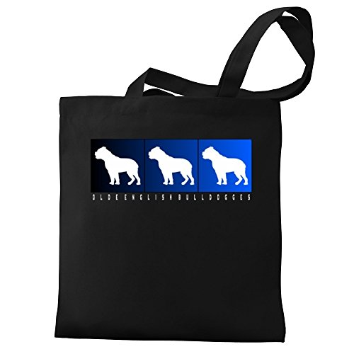 Eddany Olde Eddany Bulldogges boxes English Tote Olde Bag Canvas q4BrTqzaW