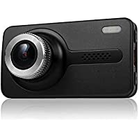 Black Box X1S GPS Dash Camera - Full HD 1080P H.264 2.7 LCD - 170° Wide Angle 6G Glass Lens 1.7 Aperture, WDR Night Vision, SOS, G-Sensor, Motion Detection Car DVR with 16GB SD Card (Silver)