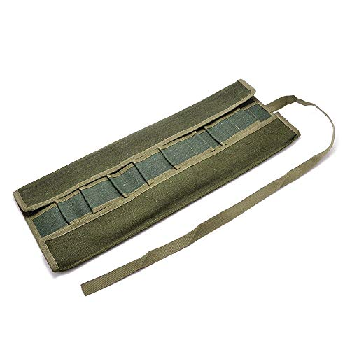 Hareware Accessories Army Green Garden Bonsai Storage Package Roll Bag Garden Repair Tools Scissors Pliers Canvas Storage Bag Tool Set Case multi tool