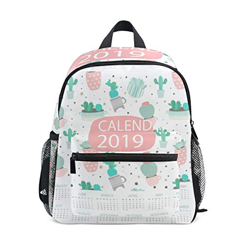 2019 Calendario Cactus patrón Mini Kids Todo-en-Uno Preescolar Mochilas para jardín de infantes niño niñas