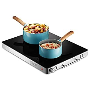"""Magic Mill Electric Warming Tray with Adjustable Temperature Control, Perfect For Buffets, Restaurants,House Parties, Events, and, Glass Top Large 21"""" x 16"""" Surface"""