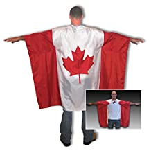 Canadian Flag Outfit, Wearable Flag with Maple Leaf, Comfortable, Patriotic, Perfect for Canada Day , Parties, Costumes, Parades, Canada Celebrations, and Sporting Events