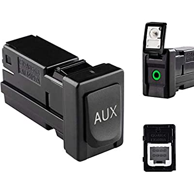 86190-02010 Aux Jack Port fit Tacoma Corolla Tundra Aux Port Auxiliary Input Jack Stereo Adapter Assembly, 86190 02010: Home Audio & Theater