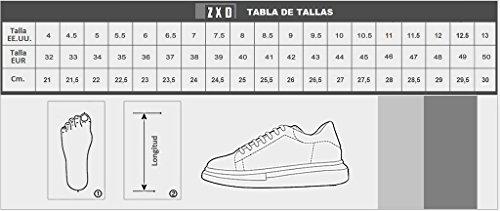 ZXD KIMERIS -Zapatillas Altas Brillos Latex Suela Plana Remaches a Juego Unisex Negros