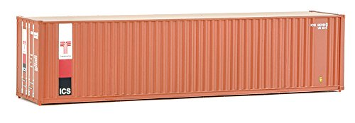 (Walthers SceneMaster 40' Hi-Cube Corrugated Container w/Flat Roof Transamerica - Assembled Train Collectable Train)
