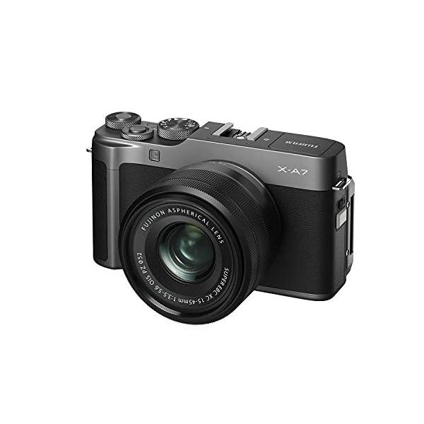 "RetinaPix Fujifilm X-A7 24.2 MP Mirrorless Camera with XC 15-45 mm Lens (APS-C Sensor, Large 3.5"" Vari-Angle Touchscreen, Face/Eye Auto Focus, 4K Video Vlogging, Blur Control, Film Simulations) - Dark Silver"