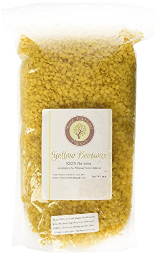 Beesworks® BEESWAX PELLETS, YELLOW, 1lb-Cosmetic Grade-Triple Filtered Beeswax. Must Have For Many Different Projects by Your Natural Planet (Image #1)