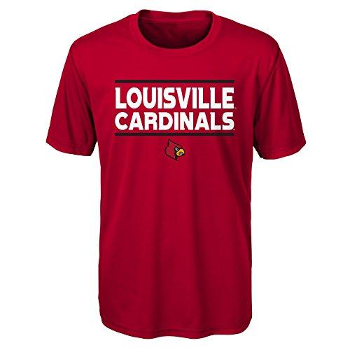 Gen 2 NCAA Louisville Cardinals Youth Boys Short Sleeve Performance Tee, Youth Boys Small(8), Dark Red ()