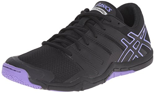 ASICS Women's Met-Conviction-W, Black/Iris, 6 M US