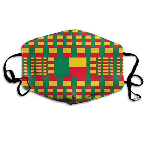 Benin Flag Mouth Mask Unisex Face Mask Anti-dust Cotton Face Mask for Men and Women