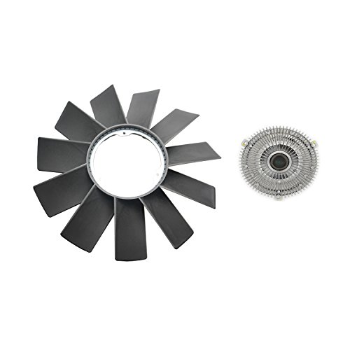 A-Premium Engine Cooling Fan Blade and Fan Clutch for BMW E34 E36 E39 E46 E53 323i 325i 328i 330i 525i 528i M3 X 5 2-PC Set ()