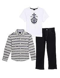 "Nautica Little Boys' Toddler ""Deep Sea Exploration"" 3-Piece Outfit"