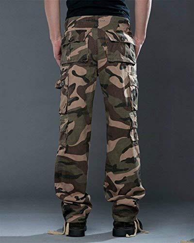 Tawny Hommes Randonnée Lâche Vêtements Militaire Plein Air Cargo Camouflage Pantalon En Travail Sport Long Camo Loisirs gRT6Spn