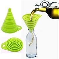 MFEIR® Entonnoir pliant portatif pratique en silicone Outil de cuisine