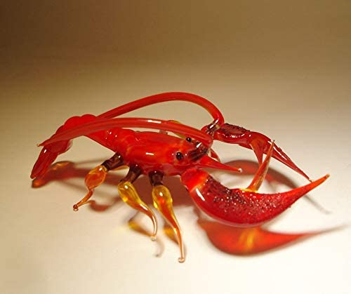 Glass Red Lobster Figurine