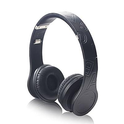 "SNEER ""iBeats"" Series Premium 2014 Newest Mini Wireless Bluetooth Headset Stereo Wireless Headphones Bluetooth Earbuds Music Powerful Bass Over-ear Headphones Headsets w/Microphone for Iphone 6 5S 5C 4S 4, Ipad 2 3 4 New iPad,iPad Air Ipod, Android, Samsu"