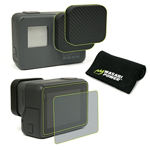 Wasabi Power Tempered Glass Screen Protector , Lens Cap  and
