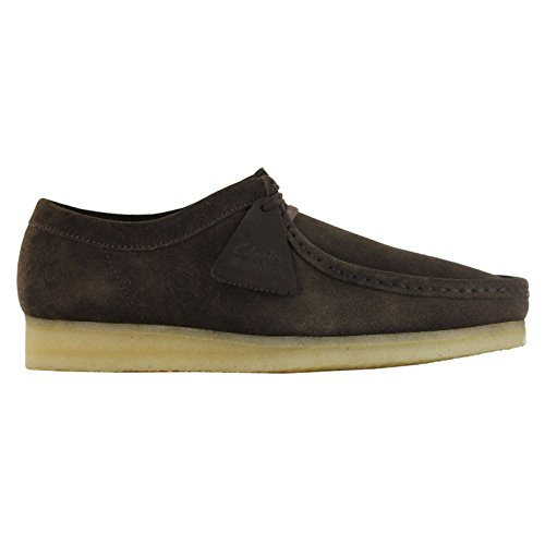 CLARKS Originals Mens Dark Brown Wallabee Suede Shoes-UK ()