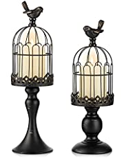 Decorative Bird Cage Cage Lanterns for Candleholder Shabby Chic Country Home Decoration Table Centerpiece Mantel Decor Candle Holders for Pillar Candles