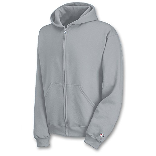 Champion Boys Boys' Big Powerblend Eco Fleece Full Zip Hoodie, Light Steel L ()