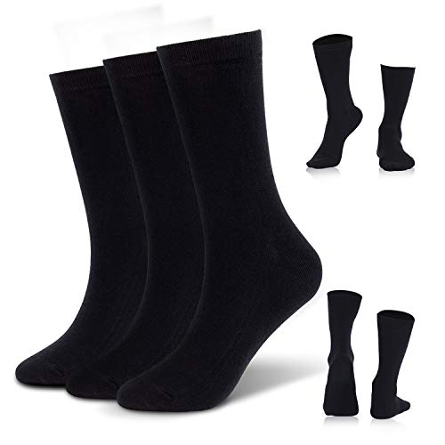 Mens Socks Cotton Dress Crew Socks for Women Boys Work Casual Sport Running 3 pairs