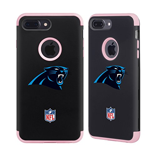 Official NFL Plain Carolina Panthers Logo Light Pink Guardian Case for Apple iPhone 7 Plus / iPhone 8 Plus (Panther Mobile Pink)