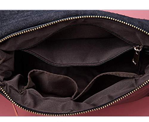 Coreana Tendenza Borsa Della Shopping Della Messenger Tracolla La Black WDBAO Borsa Versione Casual Bag Semplice Signora A Risalente wq1PIEnCnx