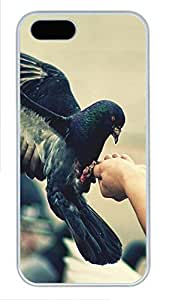 iPhone 5 5S Case Pigeon Hand PC Custom iPhone 5 5S Case Cover White
