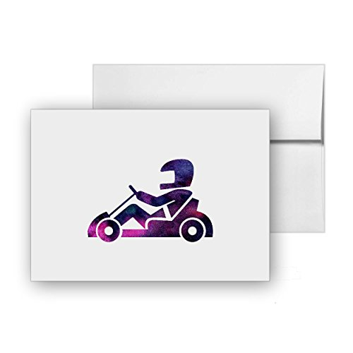 Kart Nope Race, Blank Card Invitation Pack, 15 cards at 4x6, with White Envelopes, Item 930587 ()