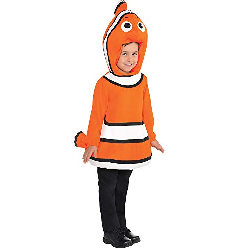 Costumes USA Finding Dory Nemo Costume for Boys, Size 3-4T, Includes an Orange and White Tunic and an Attached Hood -