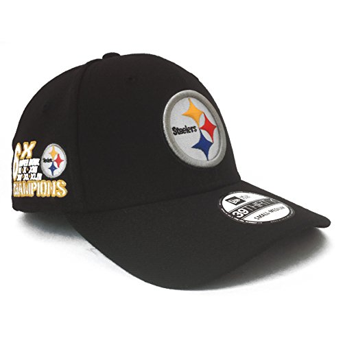 New Era Pittsburgh Steelers NFL 6X Super Bowl Champs Commemorative 39THIRTY Cap (IJ Exclusive) - ()